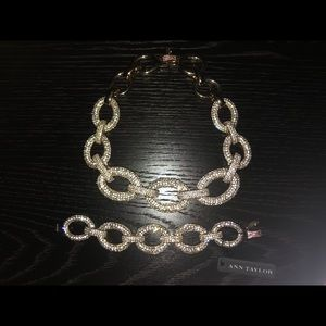 Ann Taylor Necklace & Bracelet Set